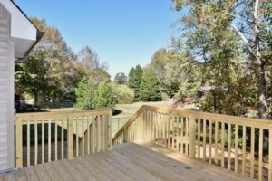Back deck at 3268 Farm Bell.