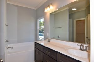 Master bathroom with tub at 3268 Farm Bell.