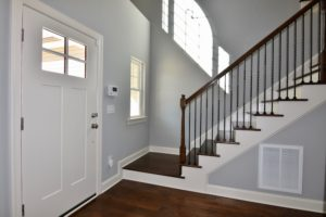 Front door and staircase at 3268 Farm Bell.