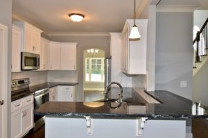 Kitchen island from dining at 3268 Farm Bell.