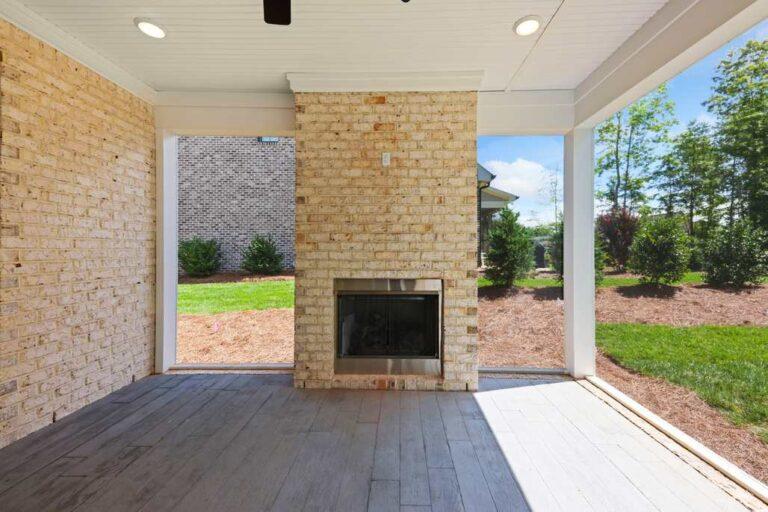 5834 Zinfandel St outdoor fireplace